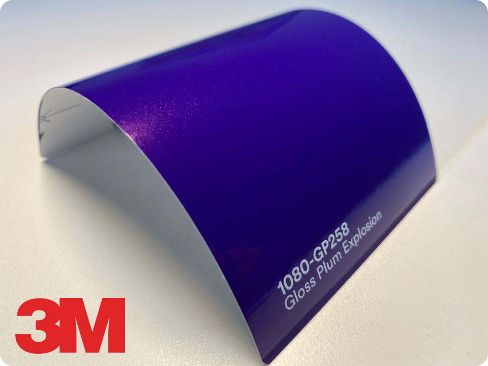 3M Wrap Film Series 1080-GP258, Gloss Plum Explosion