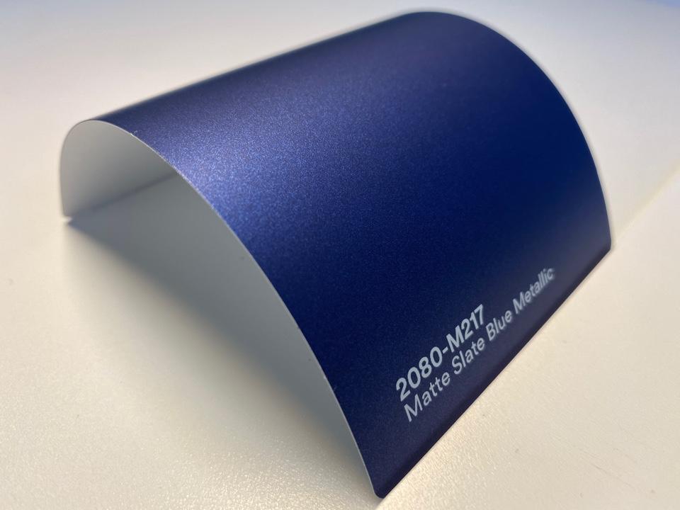 3M Wrap Film Series 2080-M217, Matte Slate Blue Metallic