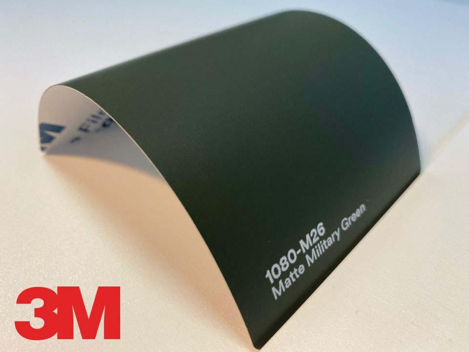 3M Wrap Film Series 1080-M26, Matte Military Green