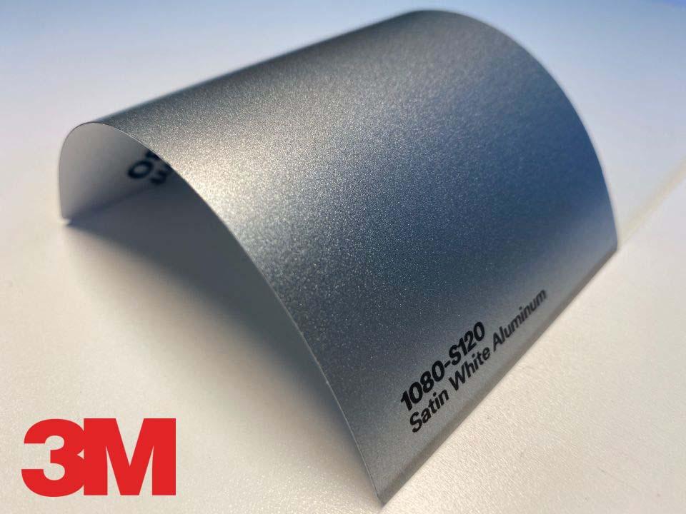 3M Wrap Film Series 1080-S120, Satin White Aluminum
