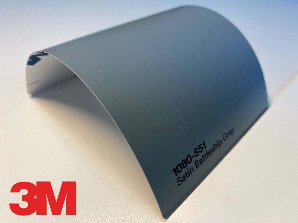 3M Wrap Film Series 1080-S51, Satin Battleship Gray