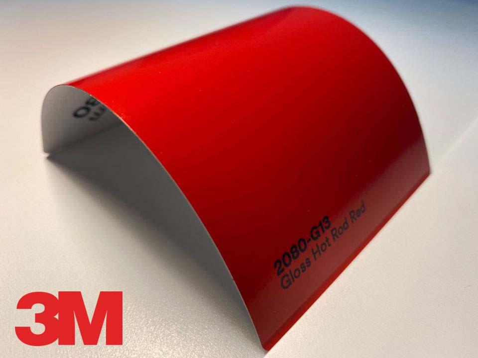 3M Wrap Film Series 2080-G13, Gloss Hot Rod Red