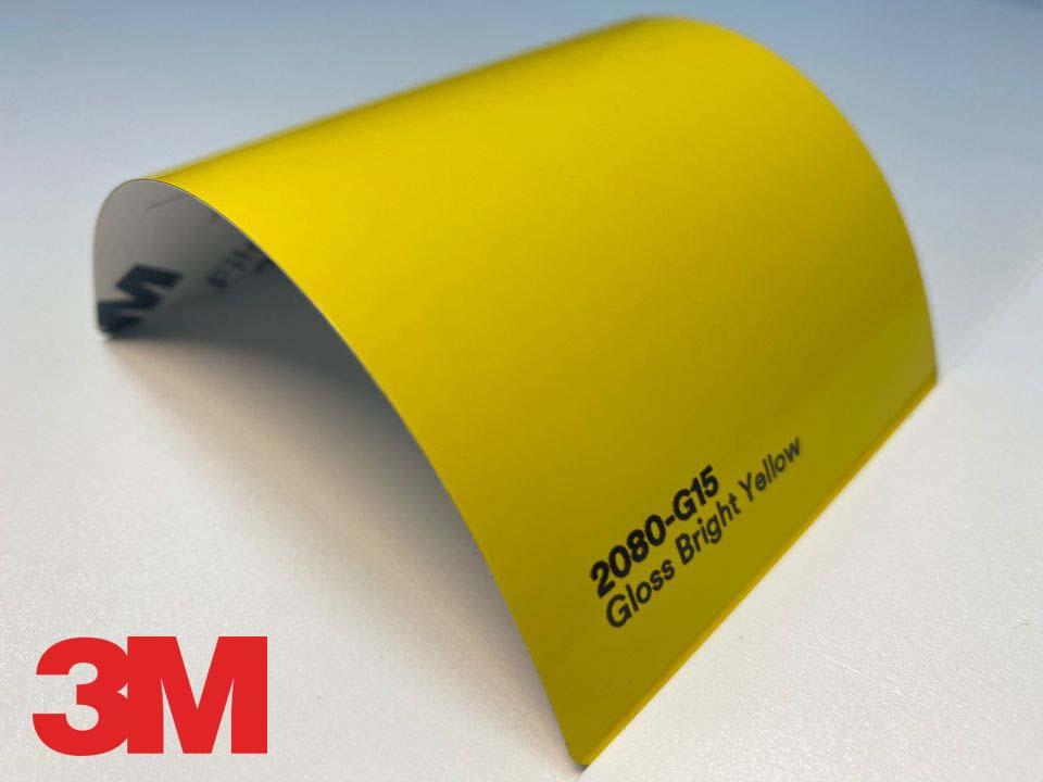 3M Wrap Film Series 2080-G15, Gloss Bright Yellow