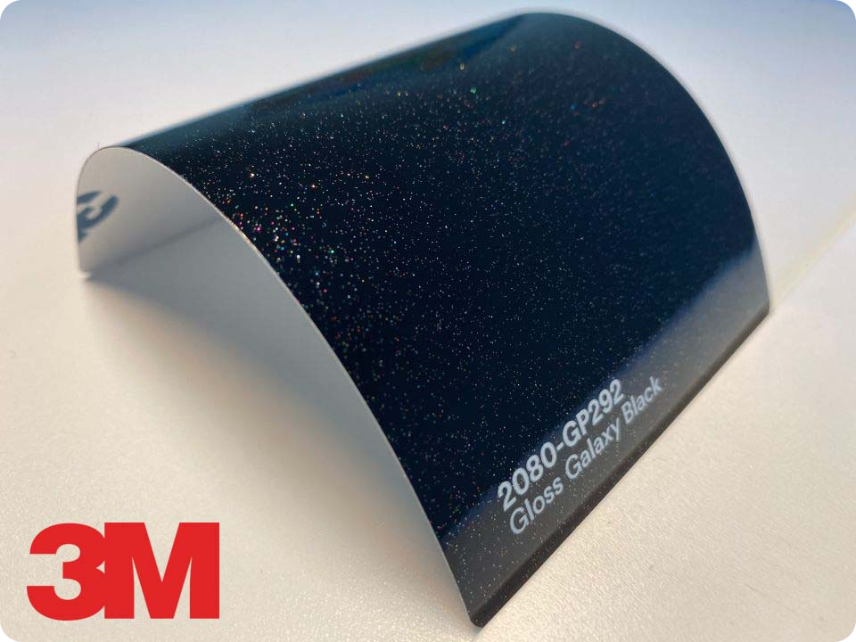 3M Wrap Film Series 2080-GP292, Gloss Galaxy Black