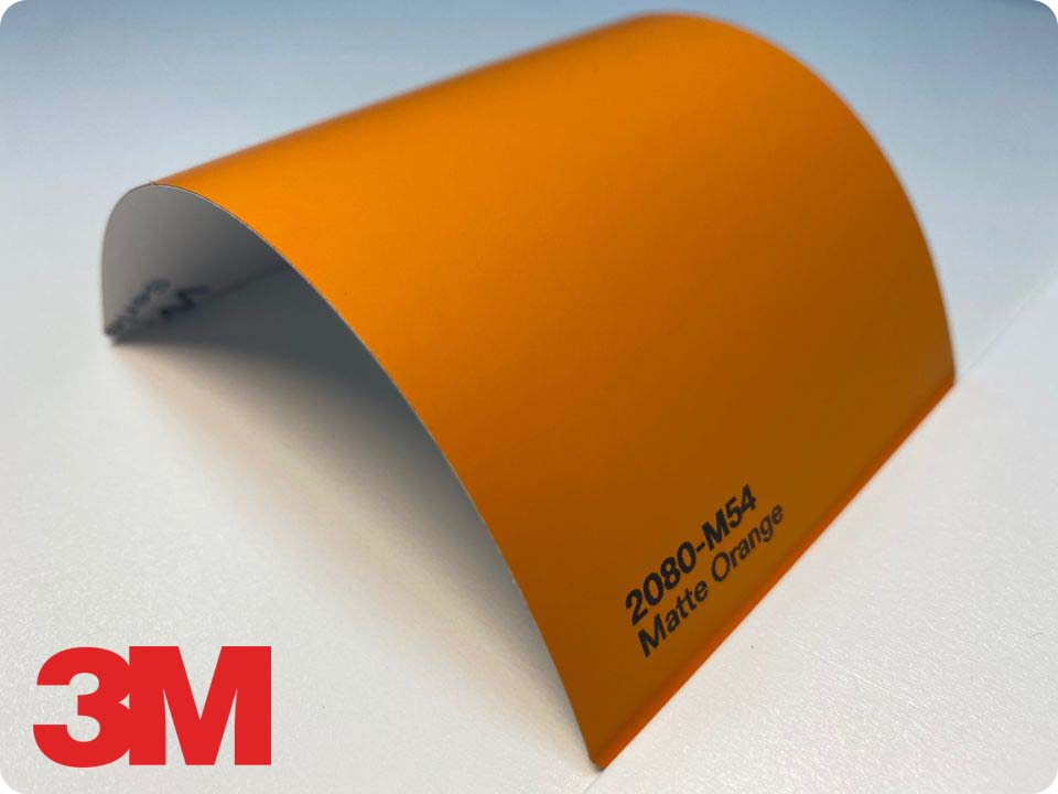3M Wrap Film Series 2080-M54, Matte Orange